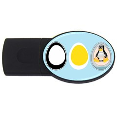 LINUX TUX PENGUIN IN THE EGG 2GB USB Flash Drive (Oval)