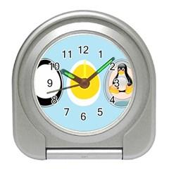 LINUX TUX PENGUIN IN THE EGG Desk Alarm Clock
