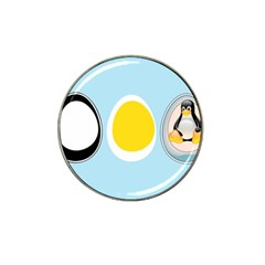LINUX TUX PENGUIN IN THE EGG Golf Ball Marker (for Hat Clip)