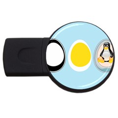 LINUX TUX PENGUIN IN THE EGG 4GB USB Flash Drive (Round)