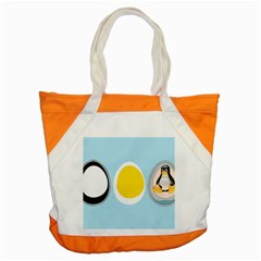 LINUX TUX PENGUIN IN THE EGG Accent Tote Bag