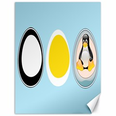LINUX TUX PENGUIN IN THE EGG Canvas 18  x 24  (Unframed)
