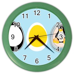 Linux Tux Penguin In The Egg Wall Clock (color)