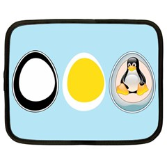 Linux Tux Penguin In The Egg Netbook Sleeve (large)