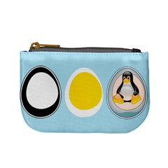 Linux Tux Penguin In The Egg Coin Change Purse