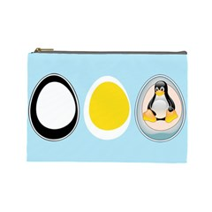 LINUX TUX PENGUIN IN THE EGG Cosmetic Bag (Large)