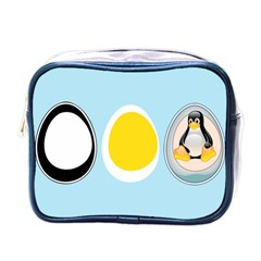 LINUX TUX PENGUIN IN THE EGG Mini Travel Toiletry Bag (One Side)
