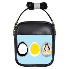 LINUX TUX PENGUIN IN THE EGG Girl s Sling Bag