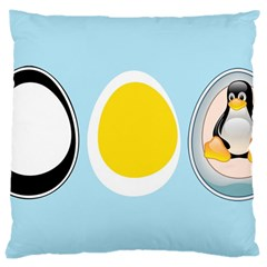 Linux Tux Penguin In The Egg Large Cushion Case (single Sided)