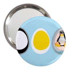 Linux Tux Penguin In The Egg 3  Handbag Mirror