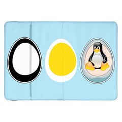 Linux Tux Penguin In The Egg Samsung Galaxy Tab 8 9  P7300 Flip Case