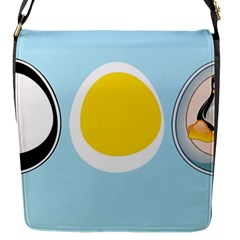 LINUX TUX PENGUIN IN THE EGG Flap Closure Messenger Bag (Small)
