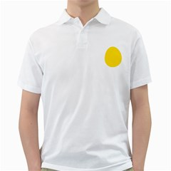 LINUX TUX PENGUIN IN THE EGG Mens  Polo Shirt (White)