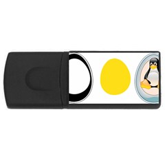 Linux Tux Penguin In The Egg 4gb Usb Flash Drive (rectangle)