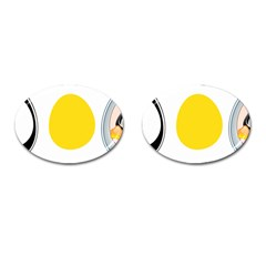 LINUX TUX PENGUIN IN THE EGG Cufflinks (Oval)