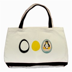 LINUX TUX PENGUIN IN THE EGG Classic Tote Bag