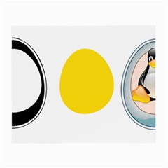 LINUX TUX PENGUIN IN THE EGG Glasses Cloth (Small, Two Sided)