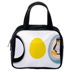 LINUX TUX PENGUIN IN THE EGG Classic Handbag (One Side)