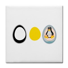 LINUX TUX PENGUIN IN THE EGG Face Towel