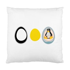 Linux Tux Penguin In The Egg Cushion Case (two Sided)