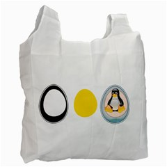 Linux Tux Penguin In The Egg Recycle Bag (one Side)
