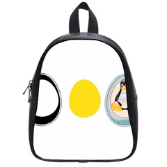 Linux Tux Penguin In The Egg School Bag (small)