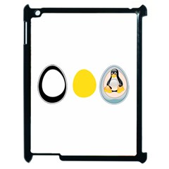 Linux Tux Penguin In The Egg Apple Ipad 2 Case (black)