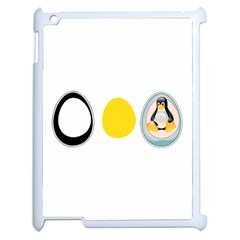 LINUX TUX PENGUIN IN THE EGG Apple iPad 2 Case (White)