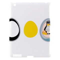 LINUX TUX PENGUIN IN THE EGG Apple iPad 3/4 Hardshell Case (Compatible with Smart Cover)