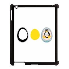 LINUX TUX PENGUIN IN THE EGG Apple iPad 3/4 Case (Black)
