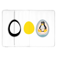 LINUX TUX PENGUIN IN THE EGG Samsung Galaxy Tab 8.9  P7300 Flip Case
