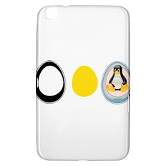 LINUX TUX PENGUIN IN THE EGG Samsung Galaxy Tab 3 (8 ) T3100 Hardshell Case