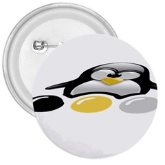 Linux Tux Pengion And Eggs 3  Button