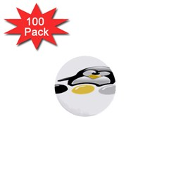Linux Tux Pengion And Eggs 1  Mini Button (100 Pack)