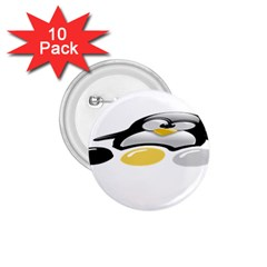 Linux Tux Pengion And Eggs 1 75  Button (10 Pack)