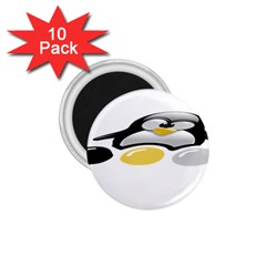 LINUX TUX PENGION AND EGGS 1.75  Button Magnet (10 pack)