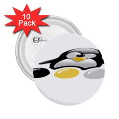 LINUX TUX PENGION AND EGGS 2.25  Button (10 pack)