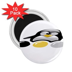 LINUX TUX PENGION AND EGGS 2.25  Button Magnet (10 pack)