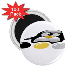 LINUX TUX PENGION AND EGGS 2.25  Button Magnet (100 pack)
