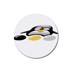 LINUX TUX PENGION AND EGGS Drink Coaster (Round)