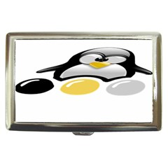 Linux Tux Pengion And Eggs Cigarette Money Case