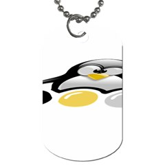 LINUX TUX PENGION AND EGGS Dog Tag (Two-sided)