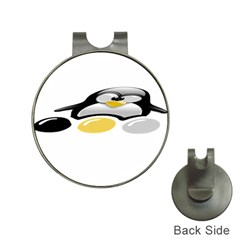 LINUX TUX PENGION AND EGGS Hat Clip with Golf Ball Marker