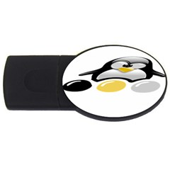 LINUX TUX PENGION AND EGGS 4GB USB Flash Drive (Oval)