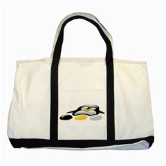 LINUX TUX PENGION AND EGGS Two Toned Tote Bag