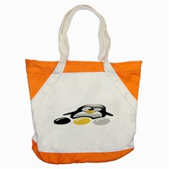 LINUX TUX PENGION AND EGGS Accent Tote Bag