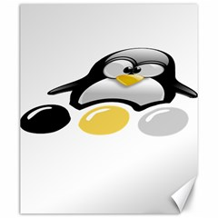 Linux Tux Pengion And Eggs Canvas 20  X 24  (unframed)