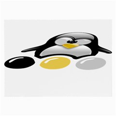 Linux Tux Pengion And Eggs Glasses Cloth (large)