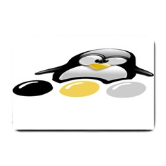 Linux Tux Pengion And Eggs Small Door Mat