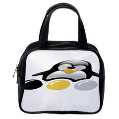 LINUX TUX PENGION AND EGGS Classic Handbag (One Side)